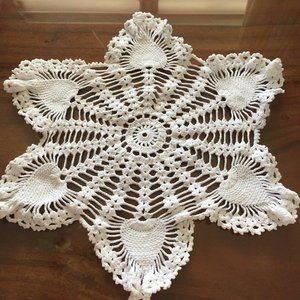 vintage hand-crotched doily